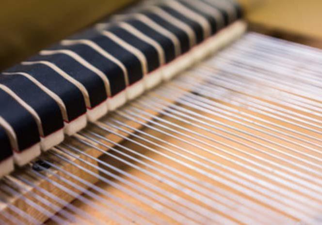 Piano strings detail